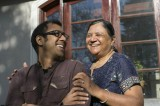 Ravi Jain and his mother